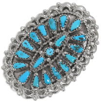 Navajo Turquoise Cluster Ring 39410