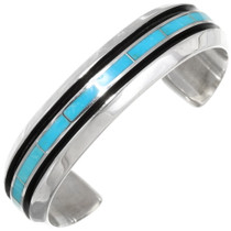 Native American Turquoise Inlay Bracelet 39417