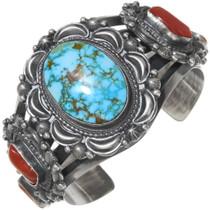 Spiderweb Turquoise Cuff Bracelet 39418