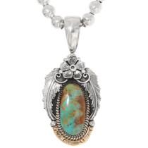 Navajo Turquoise Pendant 39422