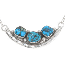 Turquoise Nugget Silver Navajo Necklace 39427