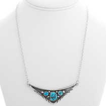 Sterling Silver Turquoise Navajo Necklace 39429
