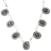 Spiderweb Turquoise Silver Necklace 39430