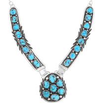 Navajo Arizona Turquoise Cluster Necklace 39431