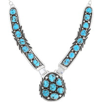 Navajo Arizona Turquoise Cluster Necklace 39431