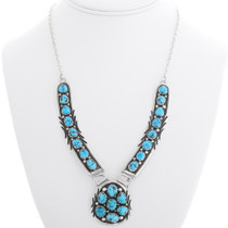 Sterling Silver Sleeping Beauty Turquoise Necklace 39431