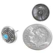 Native American Whirlwind Design Silver Earrings 39432