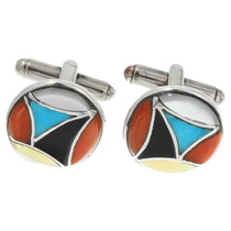 Native American Inlay Cuff Links 39435