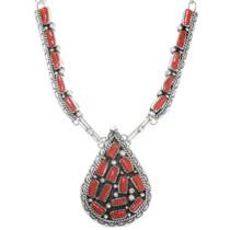 Mediterranean Coral Cluster Necklace