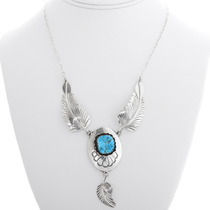 Navajo Sleeping Beauty Turquoise Necklace 39438