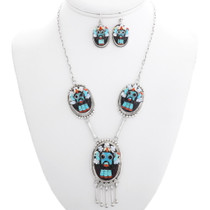 Zuni Turquoise Kachina Necklace Set 39439