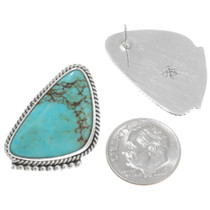 Navajo Turquoise Post Earrings 39440