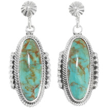 Green Turquoise Earrings 39442