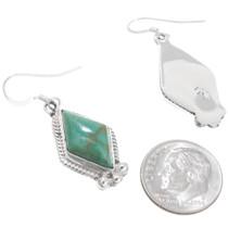 Native Made Turquoise Earrings Navajo Artist Sharon McCarthy 39445