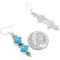 Sterling Silver Navajo Made Turquoise Earrings 39446