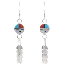 Zuni Sunface God's Eye Earrings 39449