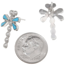 Sleeping Beauty Turquoise Dragonfly Earrings 39454