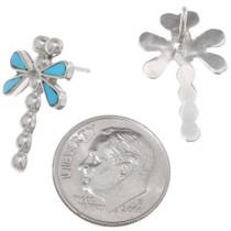 Sleeping Beauty Turquoise Dragonfly Earrings 39454