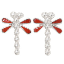 Red Coral Dragonfly Earrings 39455