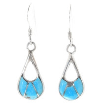 Sleeping Beauty Turquoise Zuni Earrings 39459
