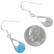 Native American Teardrop Turquoise Earrings 39459