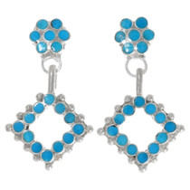 Sterling Silver Turquoise Native American Earrings 39464