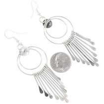 Double Hoop French Hook Silver Earrings 39465