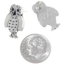 Native American White Owl Earrings 39467