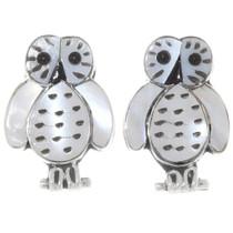 Mother of Pearl Zuni Owl Earrings 39467