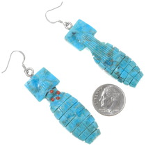 Native American Turquoise Kachina Earrings 39468
