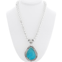 Turquoise Navajo Pendant Necklace 39471