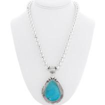 Turquoise Navajo Pendant Necklace 39471