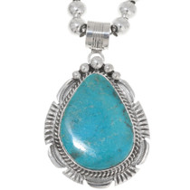 Large Sterling Silver Turquoise Pendant 39471