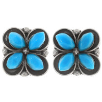 Sleeping Beauty Turquoise Zuni Earrings 39479