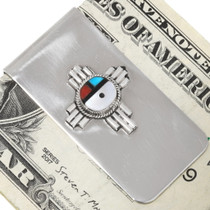 Turquoise Inlay Zuni Turquoise Money Clip 39481