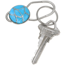 Sleeping Beauty Turquoise Key Ring 39482