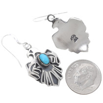 Thunderbird Symbol Turquoise Earrings 39489