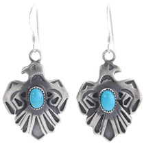 Navajo Turquoise Thunderbird Earrings 39489