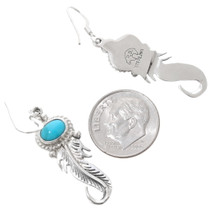 Sleeping Beauty Turquoise Navajo Earrings 39491