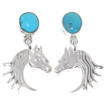 Sterling Silver Horse Earrings 39493