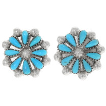 Turquoise Sterling Silver Filigree Earrings 39498