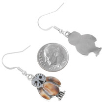 Shell Inlay Owl Earrings 39499