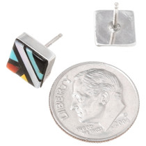 Zuni Inlay Stud Earrings 39503