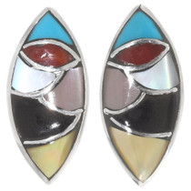 Colorful Gemstone Native American Earrings 39504
