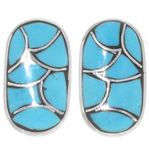 Zuni Inlaid Turquoise Earrings 39505