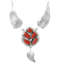 Red Coral Navajo Necklace 39509