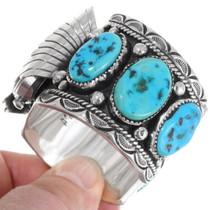 Sterling Silver Navajo Watch Bracelet 39513