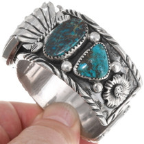 Bisbee Turquoise Native American Watch Cuff 39514