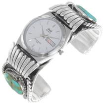 Vintage 1970s Navajo Turquoise Watch Bracelet 39515