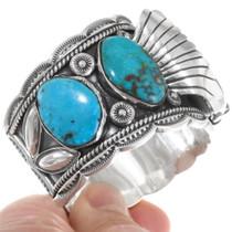 High Grade Ithaca Peak Turquoise Watch Bracelet 39516